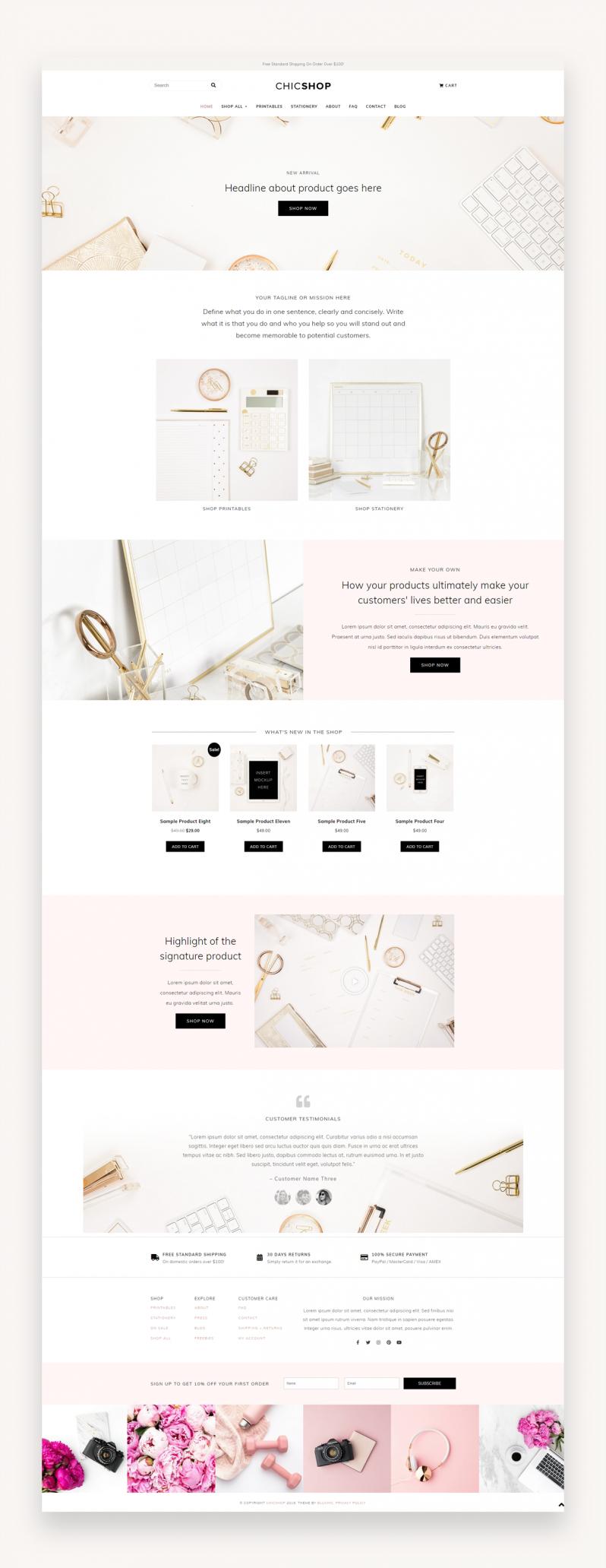 Chicshop - WordPress Theme