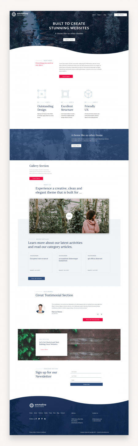 Emmeline - Divi Child Theme