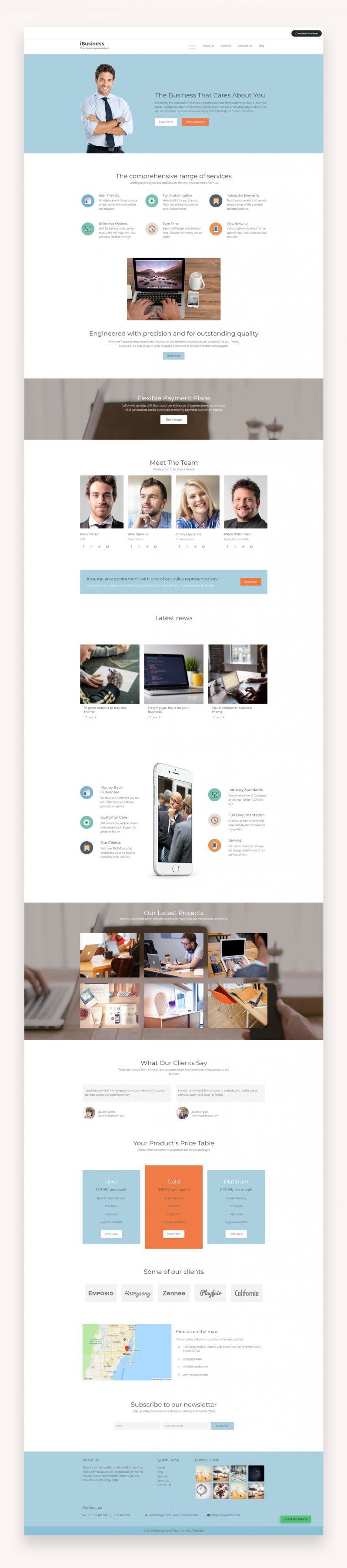 Ibusiness - Responsive Business WordPress Theme