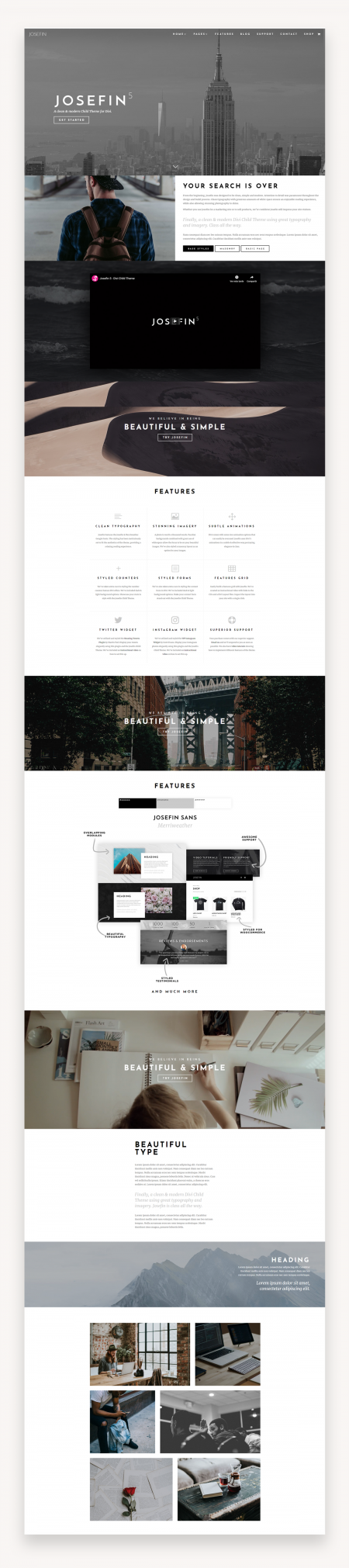 Josefin - Divi Child Theme