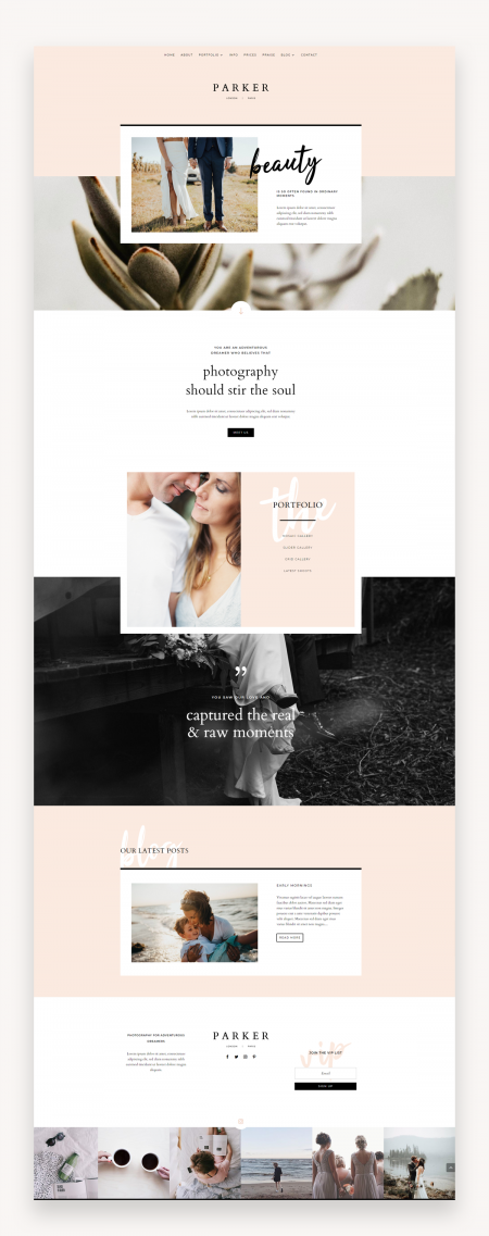 Parker Divi Child Theme