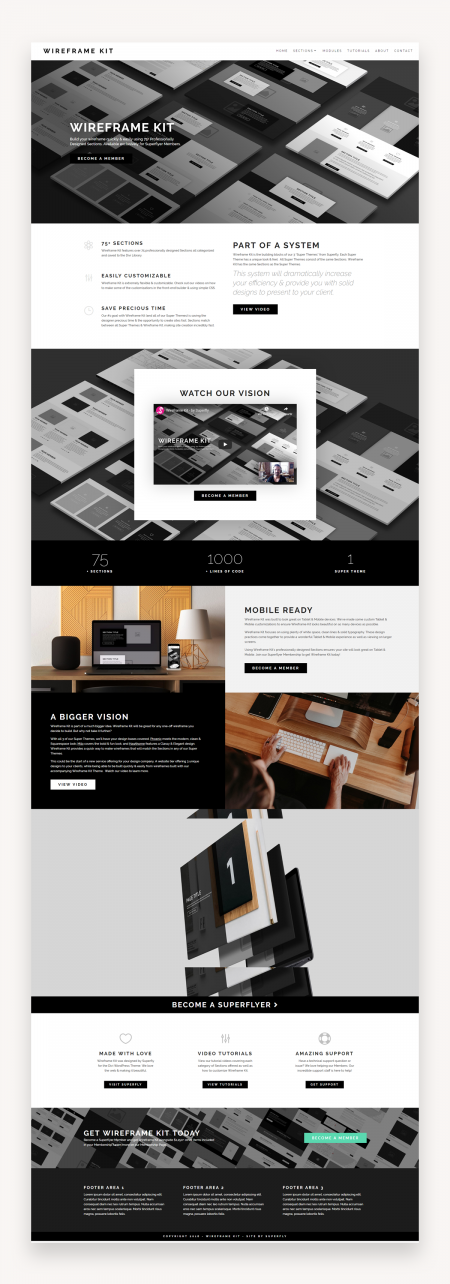 Wireframe Kit - Divi Child Theme