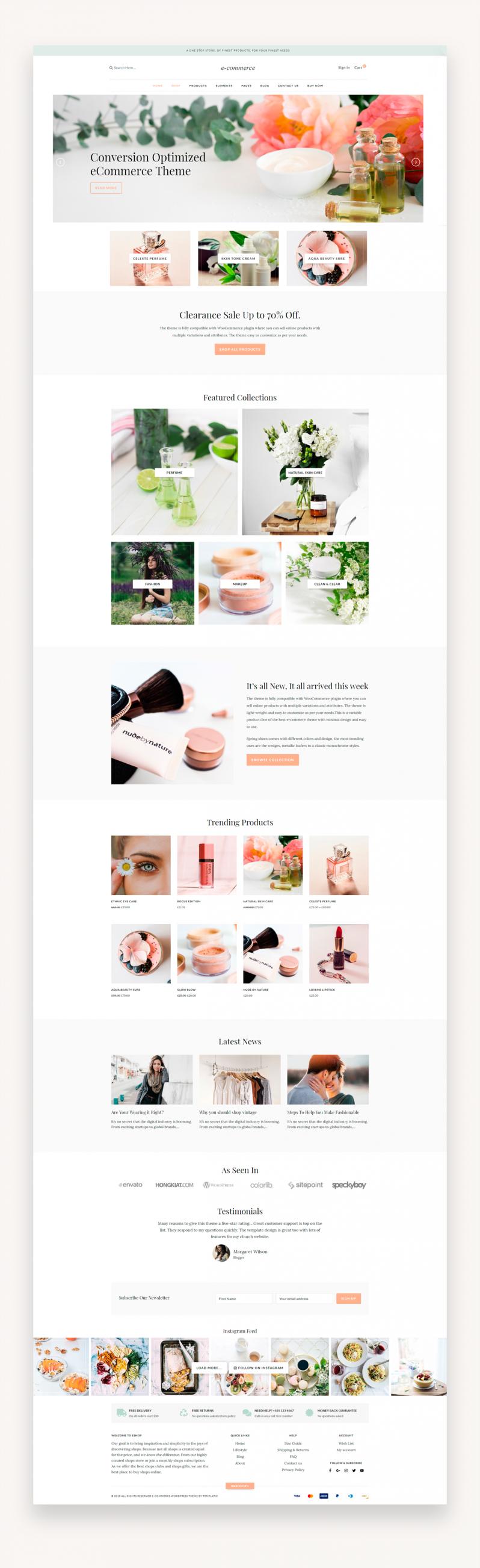 eCommerce - Responsive eCommerce WordPress Theme
