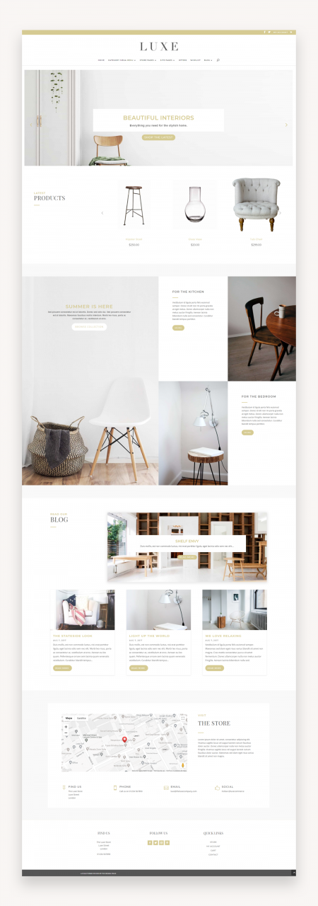 Luxe - eCommerce Divi Child Theme