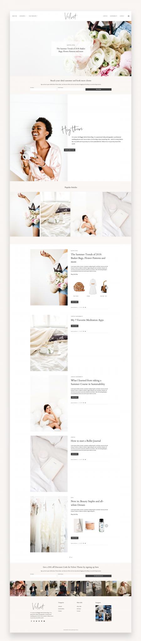 Modern Blog & Shop Theme - Velvet