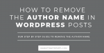 How to Remove the Author Name in WordPress Posts Post