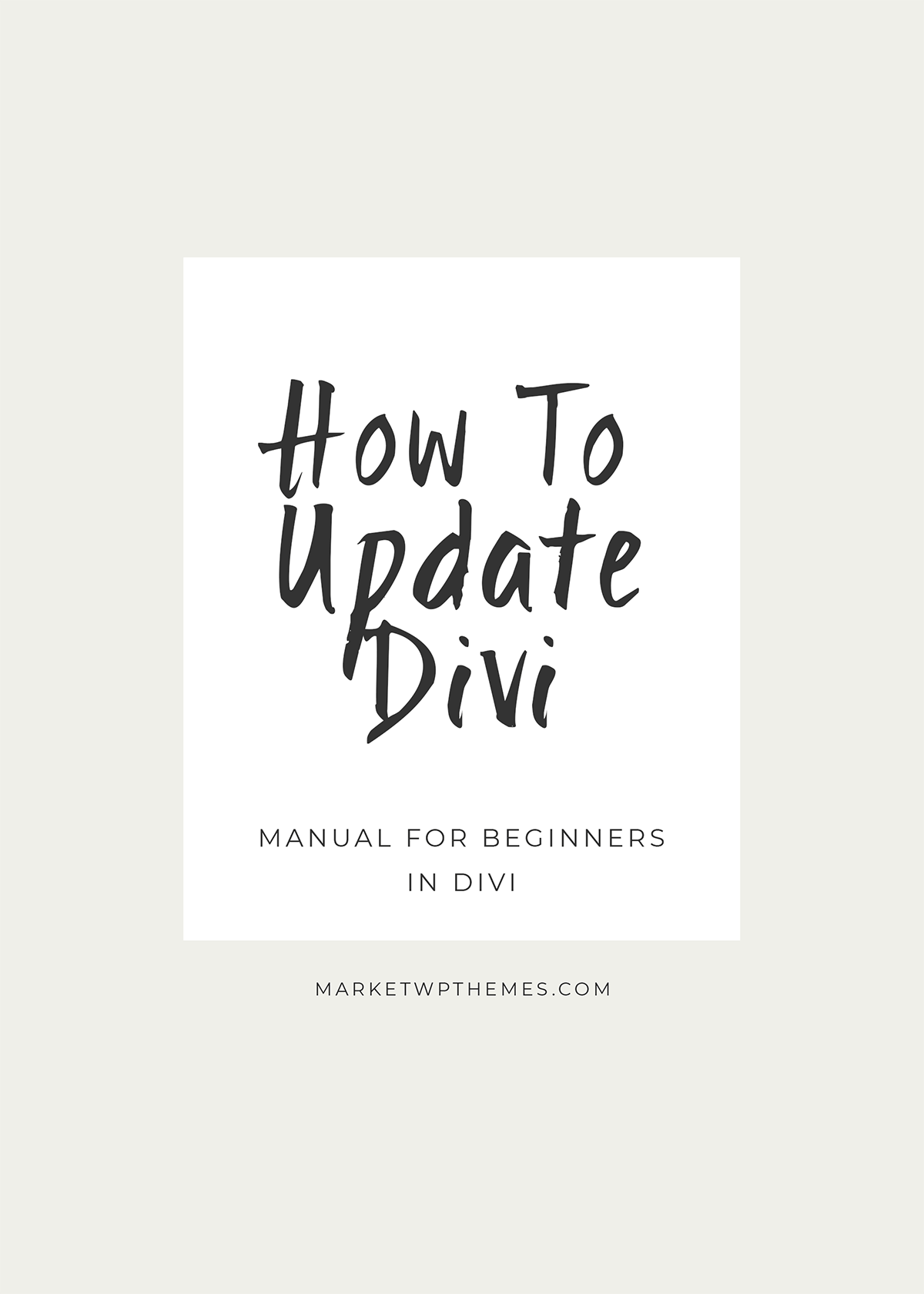How to update Divi