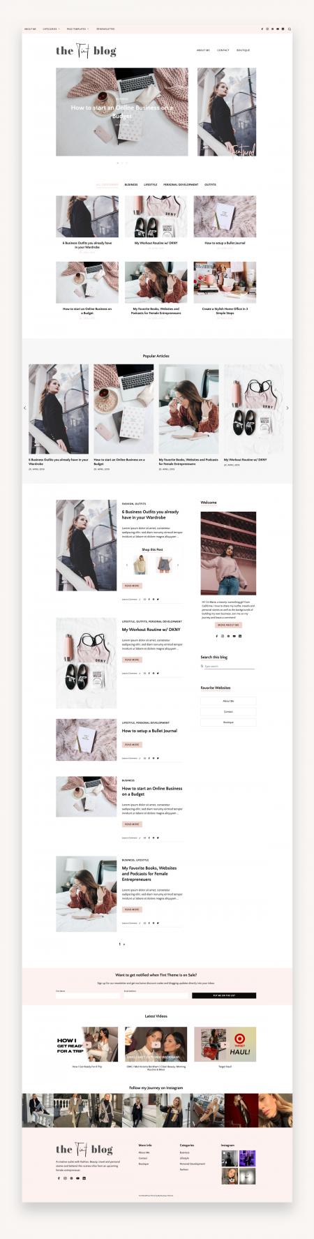 Business Blog Theme Tint
