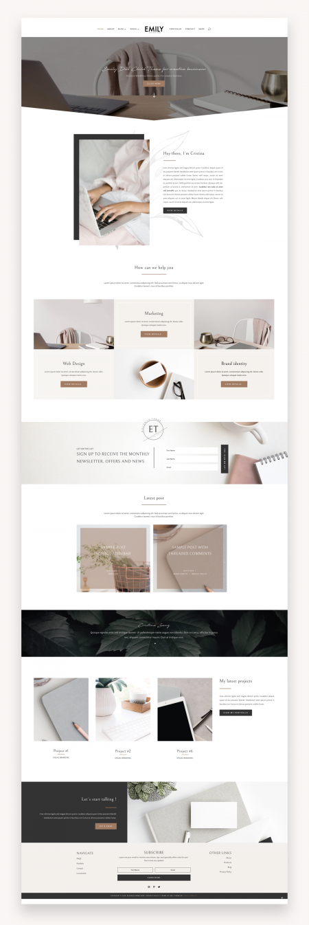 Emily Business Divi Child Theme