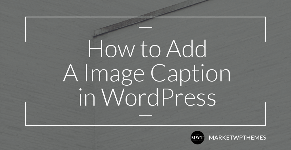 How to Add A Image Caption in WordPress