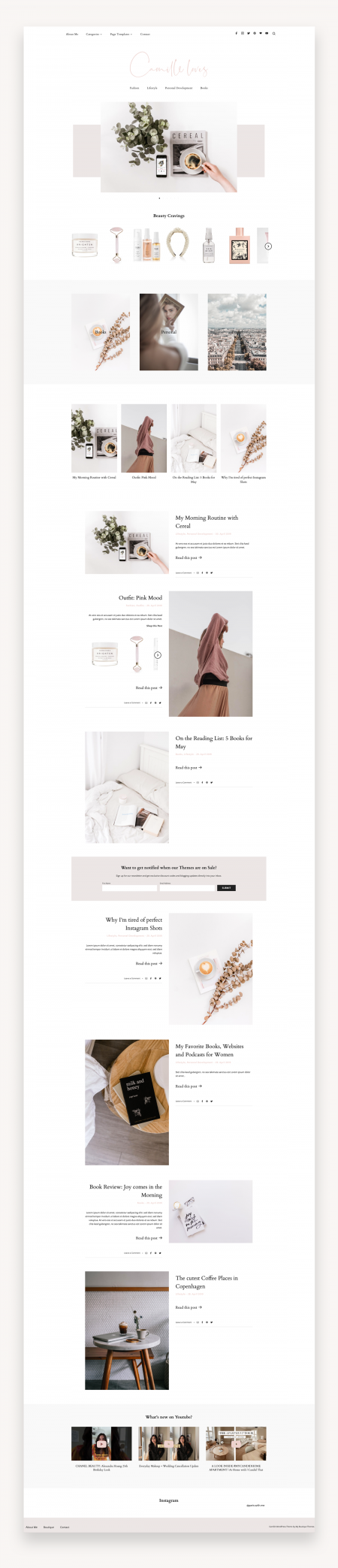 Minimal Blog Theme Camille
