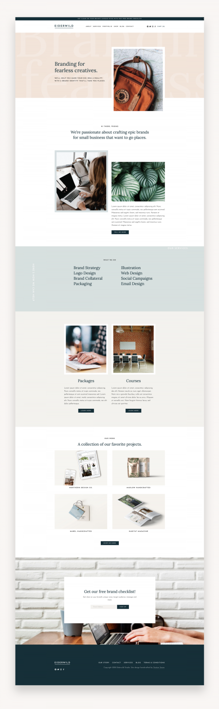 Eiderwild Squarespace Template