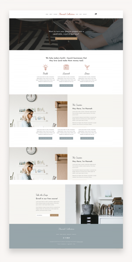 Flourish Squarespace Template