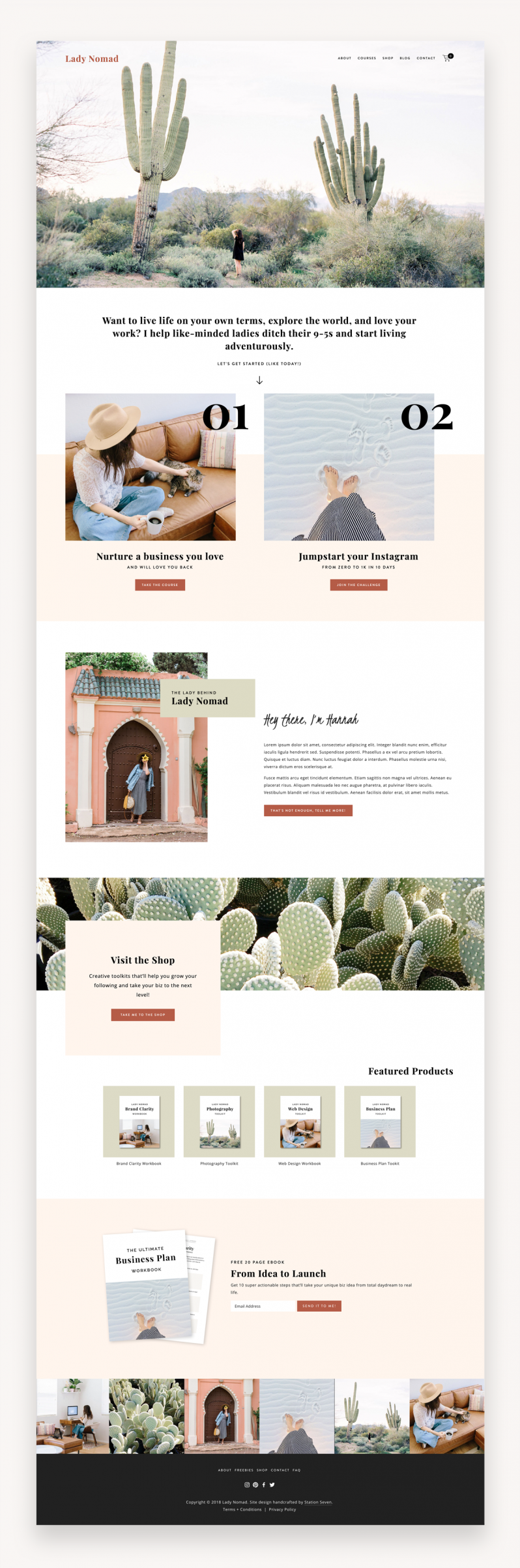 Lady Nomad Squarespace Template