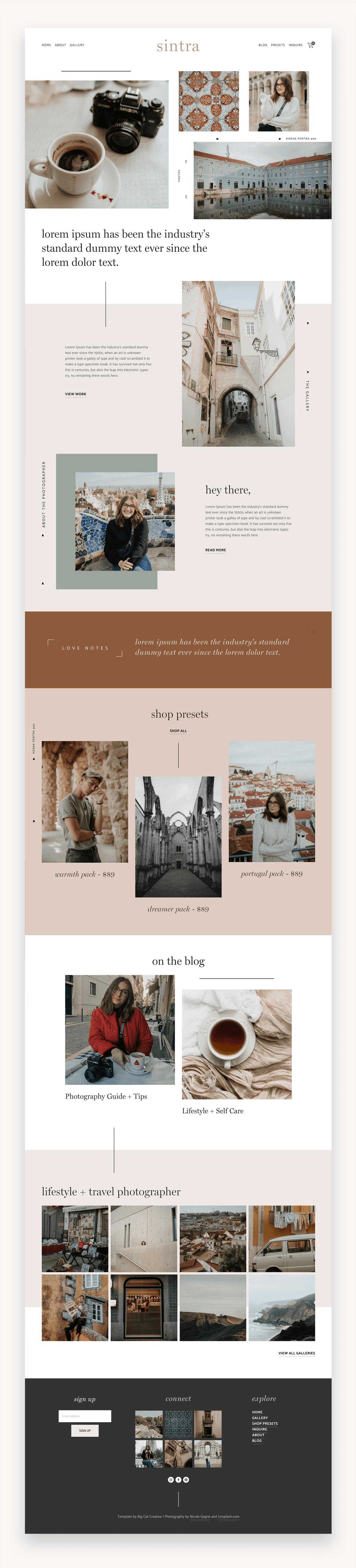 Sintra Squarespace Template - Fullscreen