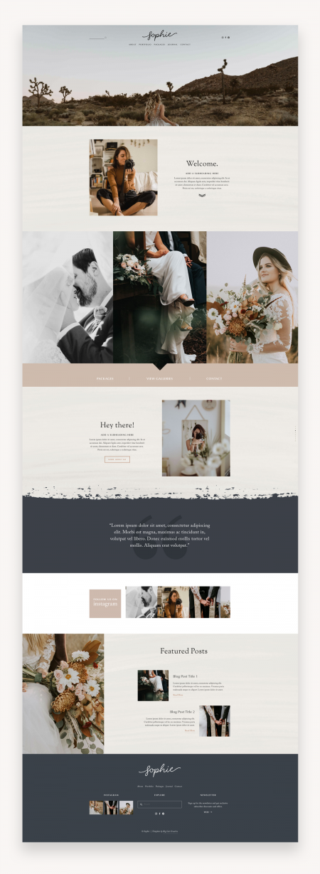 Sophie Squarespace Template