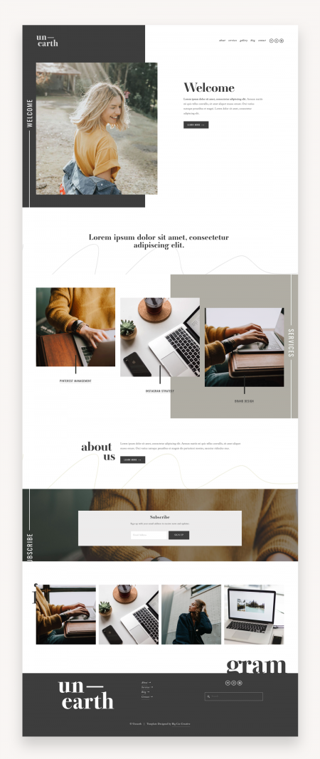 Unearth Squarespace Template