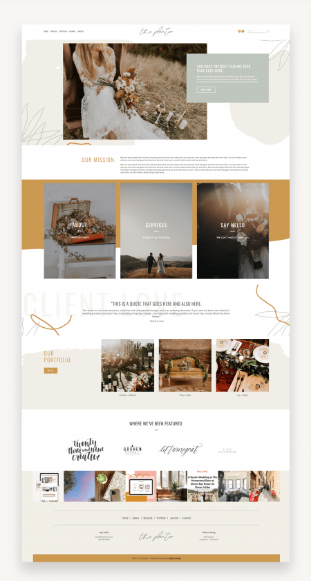 Boho Queen Squarespace Template