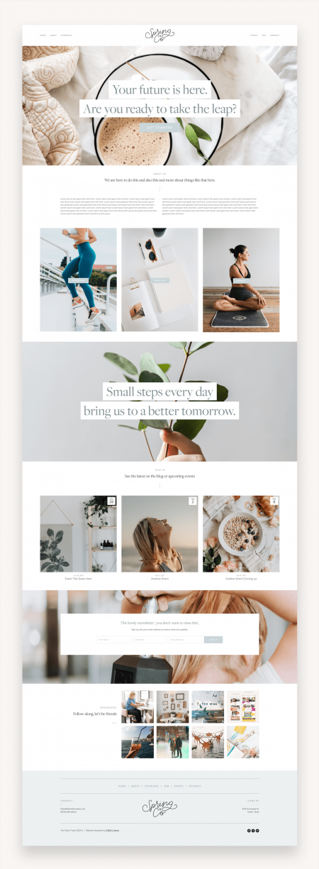 Clean Freak Squarespace Template