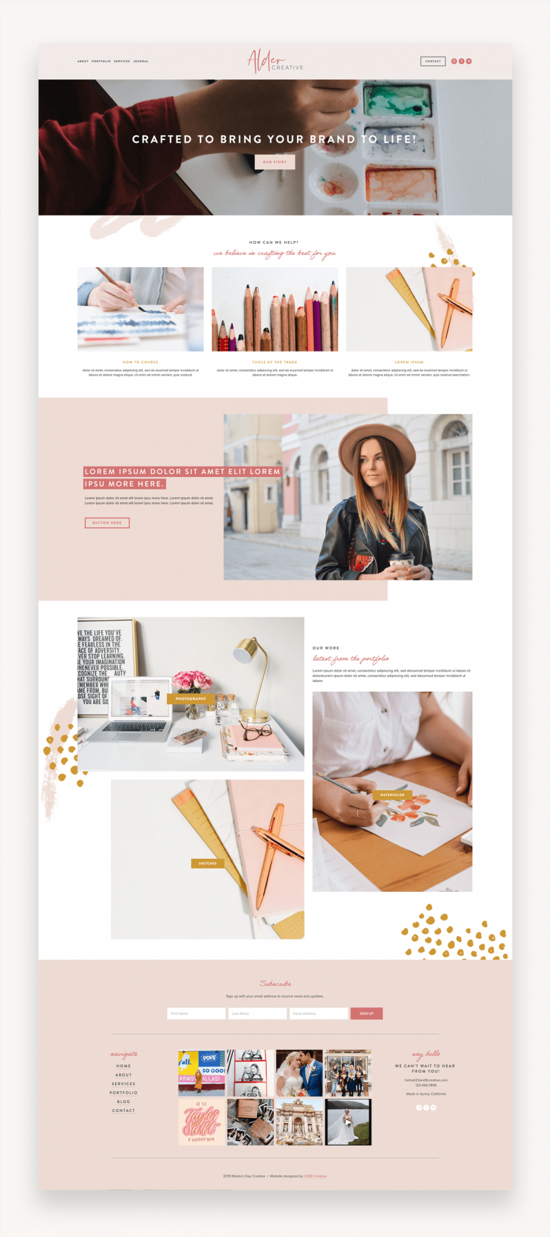 Modern Day Squarespace Template