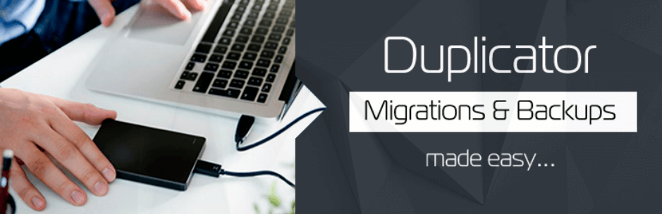 duplicator plugin backup