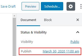 select date publish post