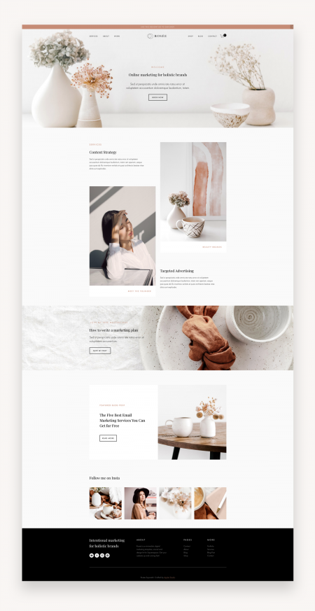 Rosee Squarespace Template