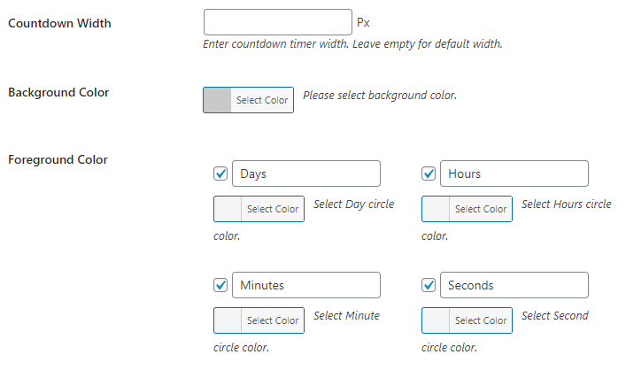 countdown timer - color