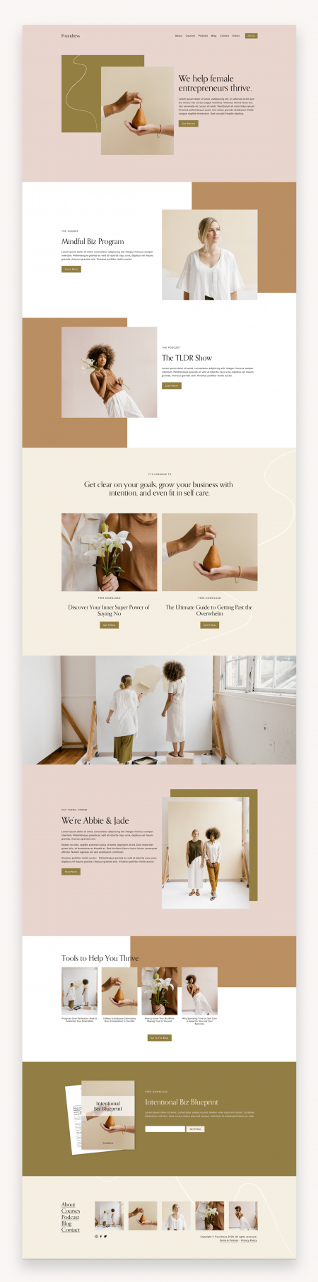 Foundress Squarespace Template