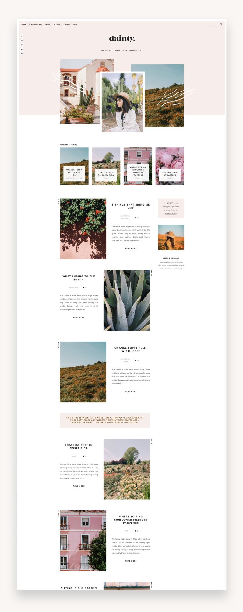 Dainty - Blog & Shop WordPress Theme - Fullscreen