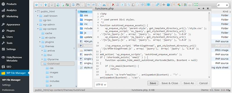 File Manager Edit