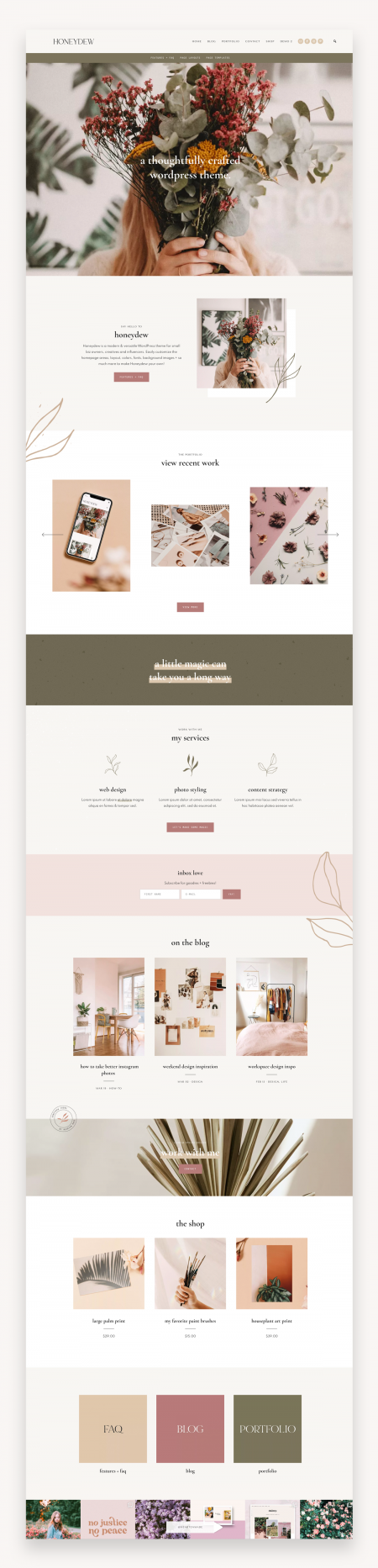 Honeydew - Business + Portfolio Theme