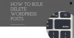 How to Bulk Delete WordPress Posts Post