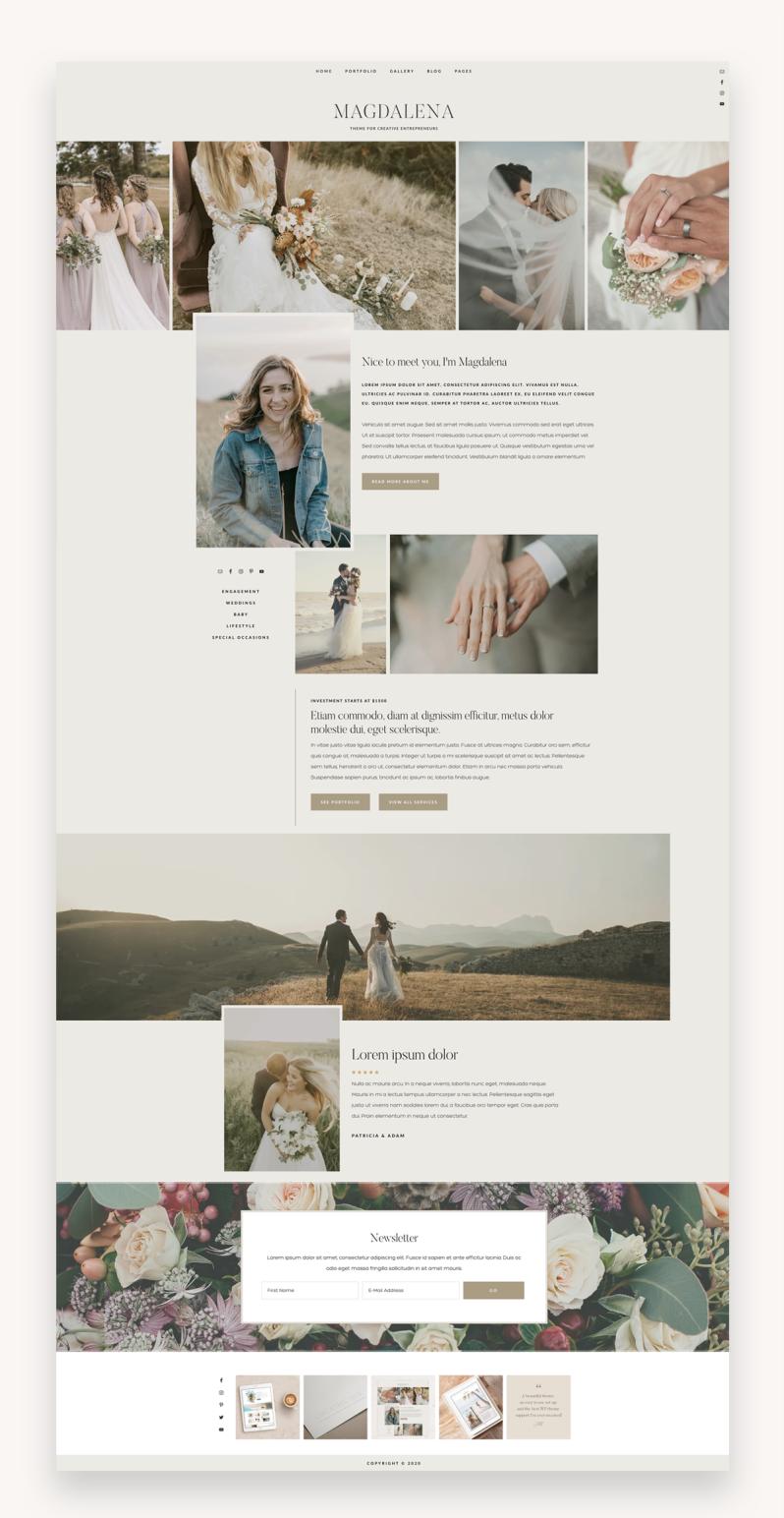Magdalena - Modern WordPress Theme