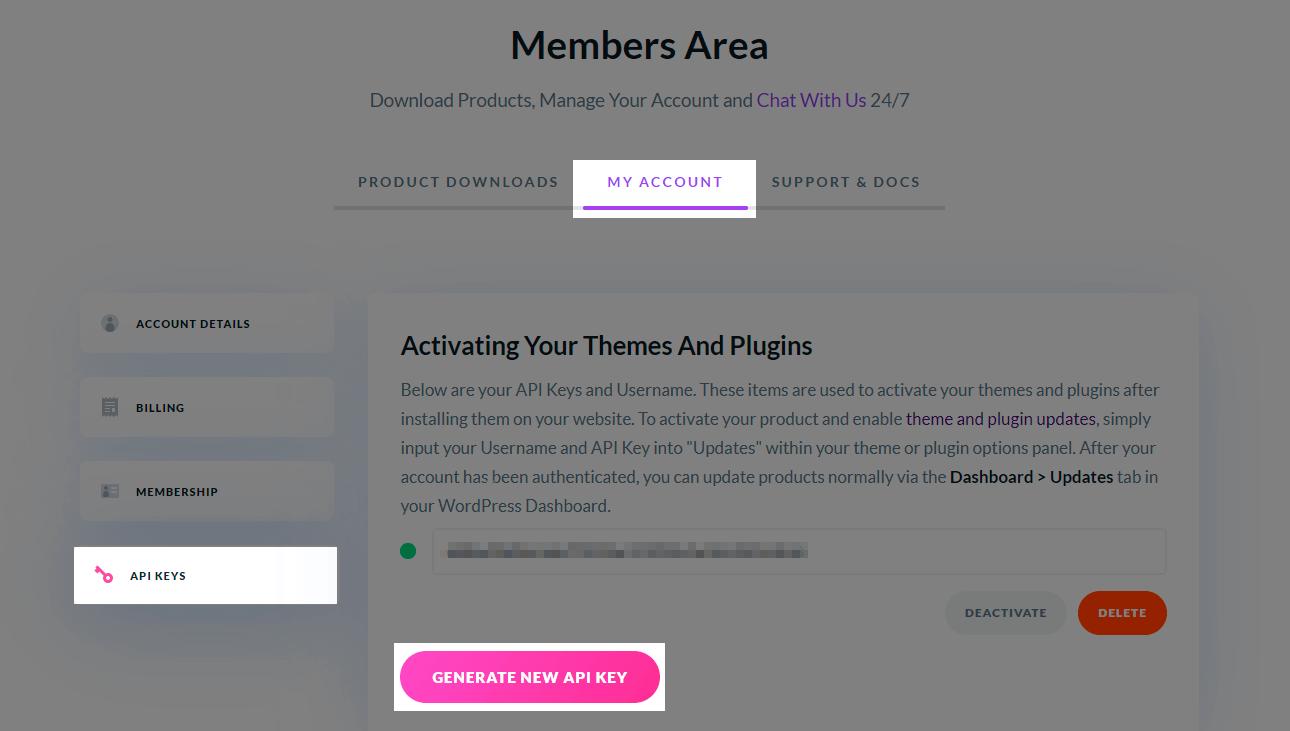 Update Divi Members Area