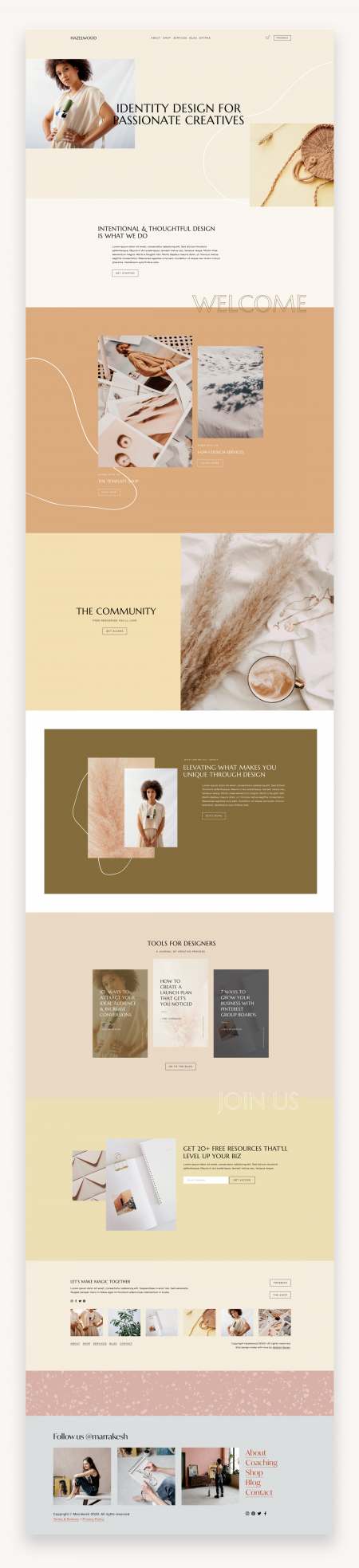 Hazelwood Squarespace Template