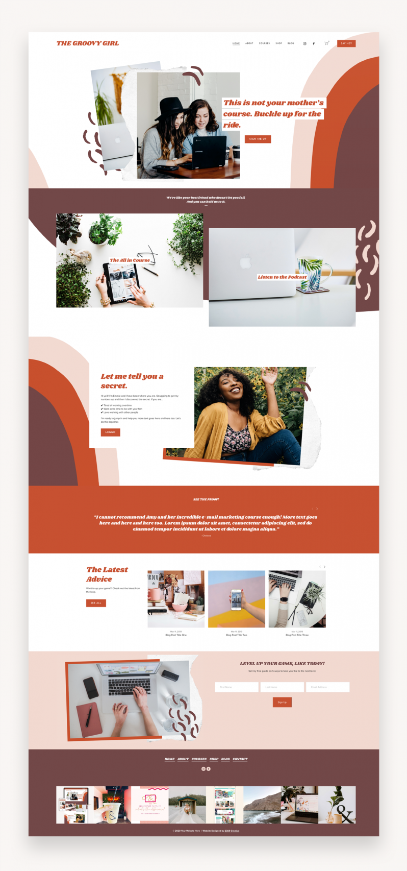 Groovy Girl Squarespace Template