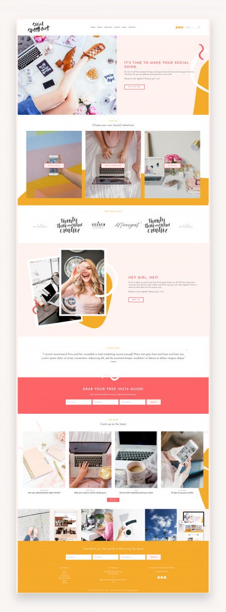 Social Sweetheart Squarespace Template