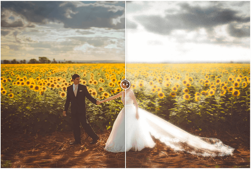 Add Before and After Photo effect example
