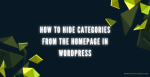 How To Hide Categories From The Homepage In WordPress Post