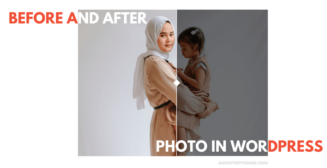 Before and After Photo in WordPress Post