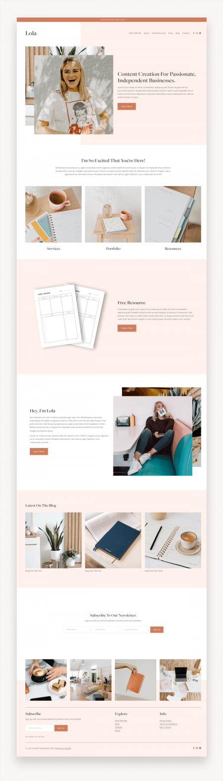Lola Squarespace Template