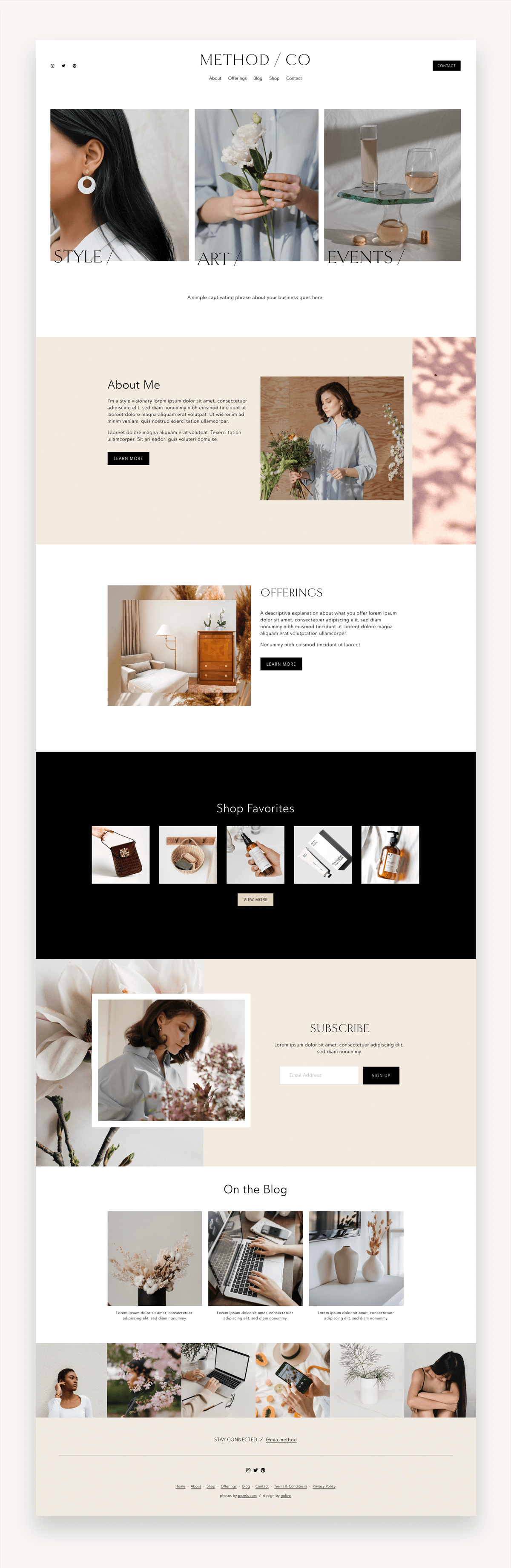 Method Squarespace Template