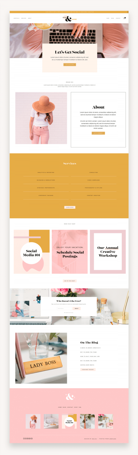 Rise And Shine Squarespace Template