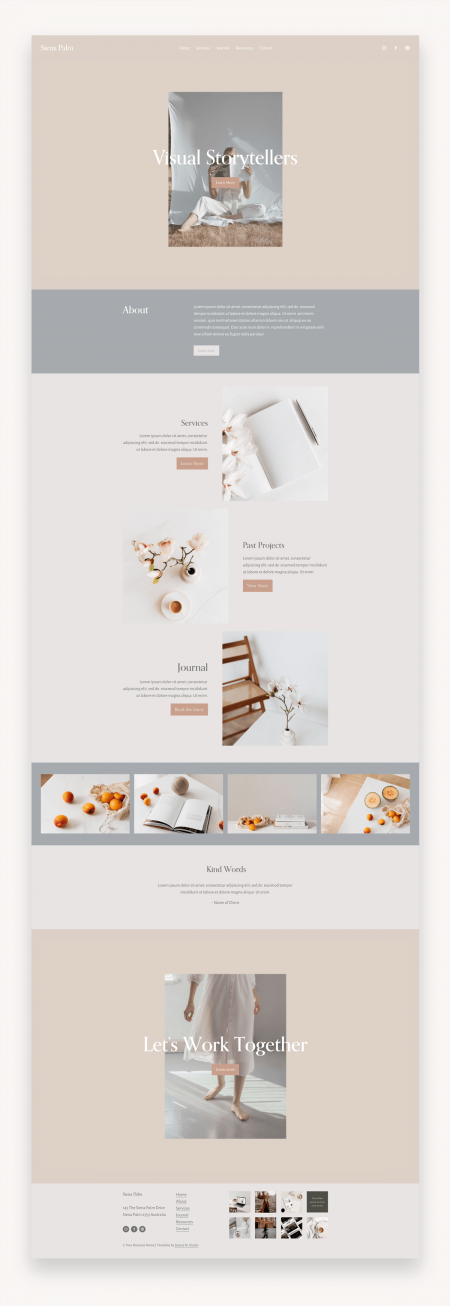 Siena Palm Squarespace Template