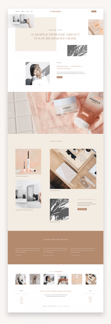 Theory Squarespace Template