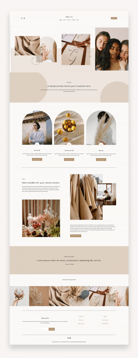 Willow Photography Squarespace Template