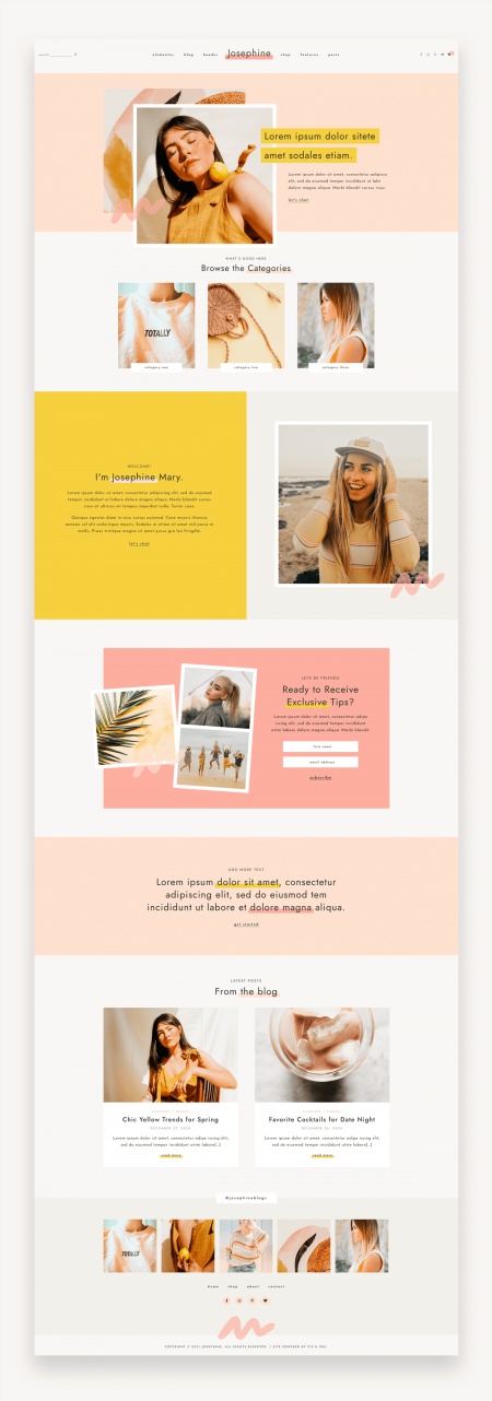 Josephine Feminine WordPress Theme
