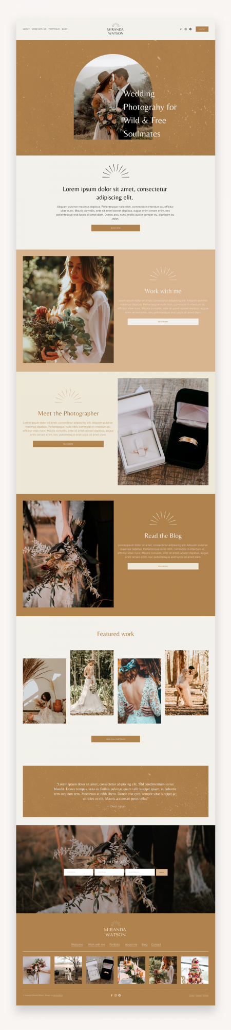 Miranda Photography Squarespace Template