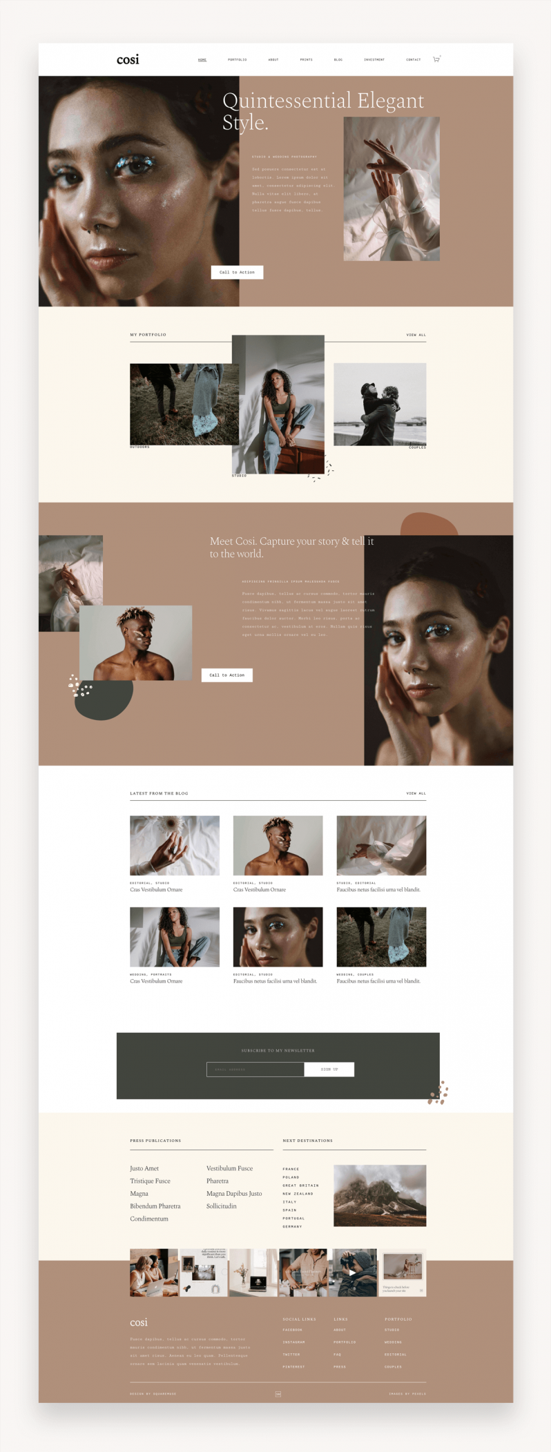 Cosi Photography Squarespace Template